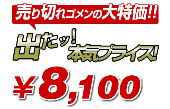 8100円小手